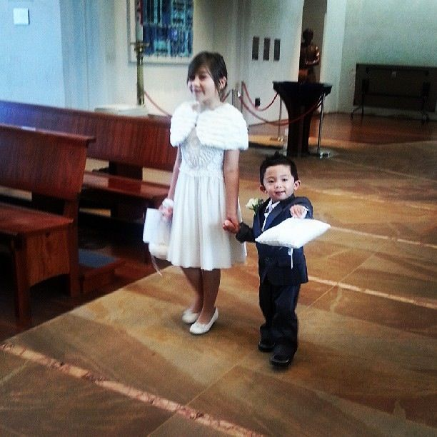 Flower girl and page boy :)
