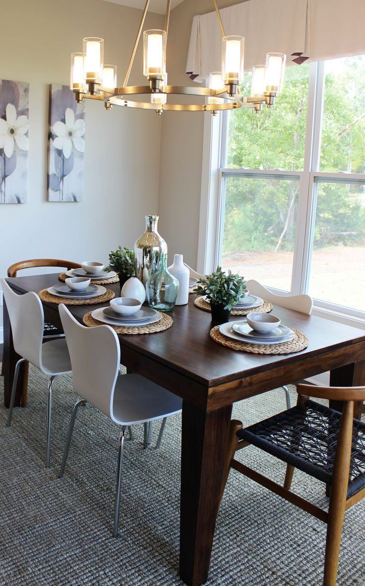 Es Homes Wakefield Model Morning Room West Elm Mid Century Dining Kichler Circolo Lighting Design Projects Pinterest