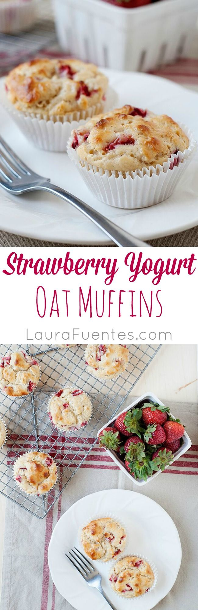 Strawberry Yogurt Oat Muffins: These muffins are great for breakfast or as a snack in your kids lunchbox. Filling and high in protein.