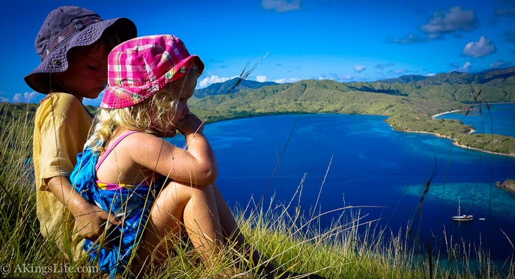 The first ever toddlers to climb Gili Laba mountain in Indonesia. The view was stunning! This was part of a 4 day sailing journey to Komodo Island.  More here: http://www.akingslife.com/2013/04/4-day-sailing-journey-to-komodo-with-kids/