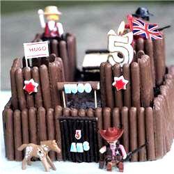 Gâteau château fort en Fingers