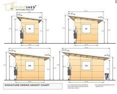 awesome www.studio-shed.com Common dimensions for the Studio Sheds from our Signature Se...