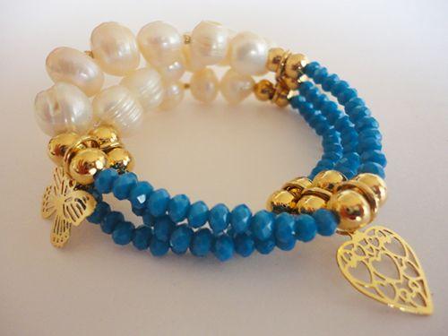 #México #fashion #accesorios #pulseras #bracelets #sell #mujeres #bisutería #joyería #perla #cristal #diseño