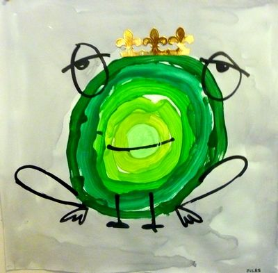 Graphisme Rond Grenouille