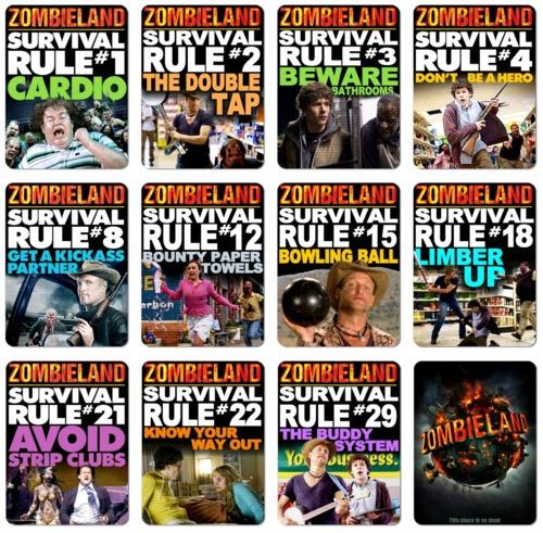 zombieland rules Zombieland, Zombie survival guide