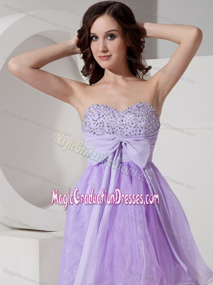 Beautiful Lilac A-Line Sweetheart Graduation Dresses for Middle School in Crianlarich