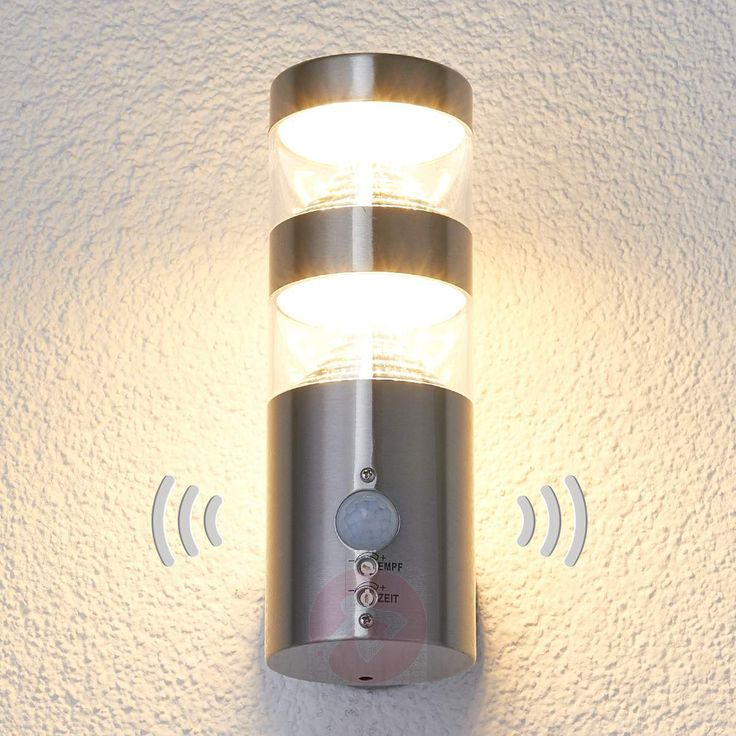 Inspirational LED Au enwandleuchte Lanea mit Bewegungsmelder