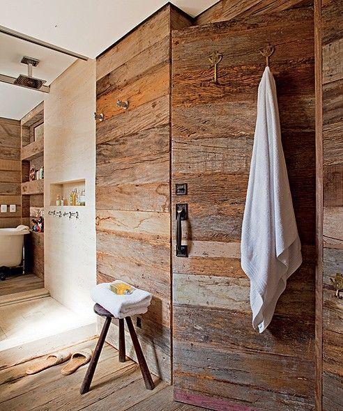 25 best images about Banheiros que Inspiram! on Pinterest  Madeira, License  -> Decoracao Banheiro Rustica
