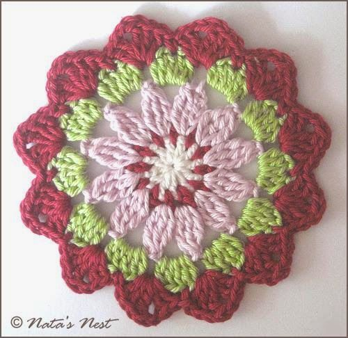 Mandala Flower Coaster - Free Crochet Pattern / Mandala Blumen Untersetzer - Kostenlose Häkelanleitung