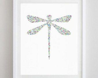 Kolibrie aquarel Art bloemenprint van BeWildandFree op Etsy