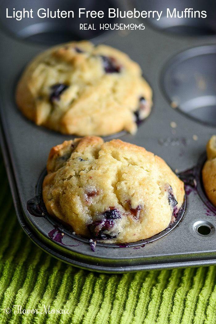 Light Gluten Free Blueberry Muffins | Real Housemoms  #glutenfree (scheduled via http://www.tailwindapp.com?utm_source=pinterest&utm_medium=twpin&utm_content=post1559843&utm_campaign=scheduler_attribution)