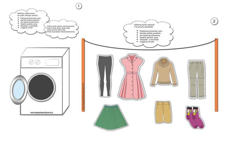 """Jak Sabinka robiła pranie - utrwalamy głoskę """"S"""""""