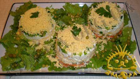 Салат с печенью трески: Recipe