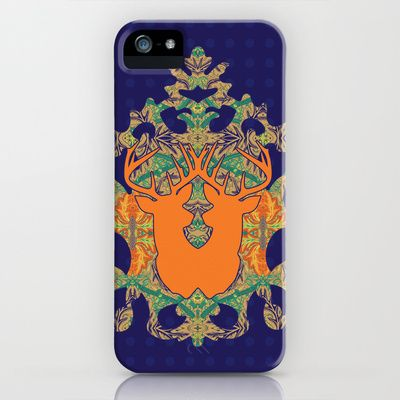 Orange Bloom : Deep blue Orange iPhone & iPod Case by Geetika Gulia - $35.00
