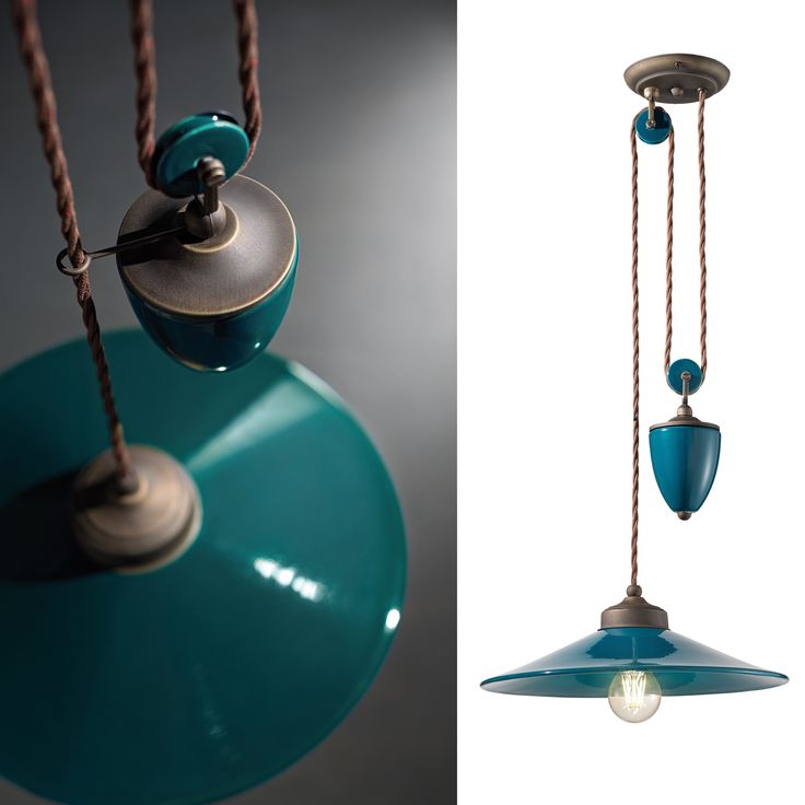 Vintage ceramic finish, perfectly in armony with rust metal: pendants and rise and falls with an unique style and a worn out flavour, perfect also for the refinest ambient.