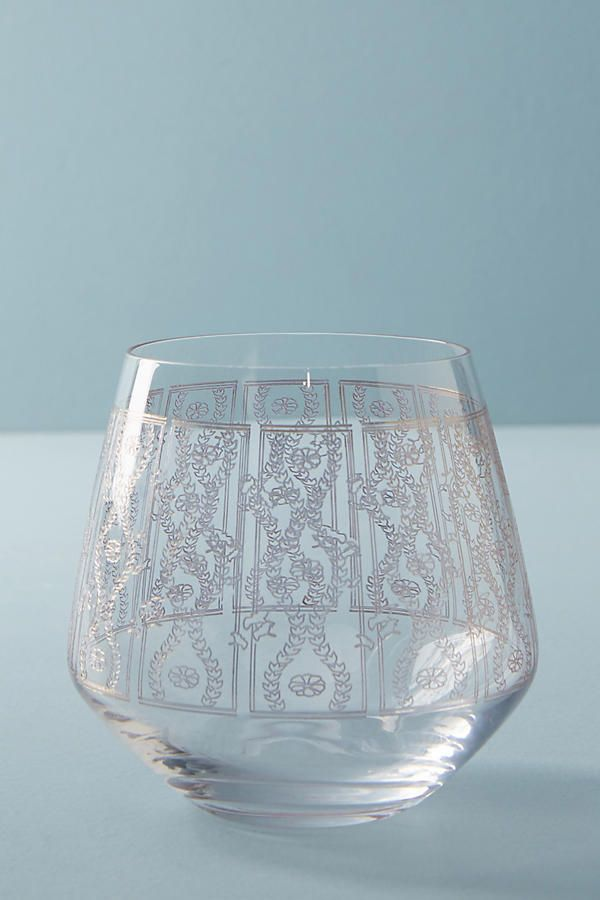 Lattice Weinglas ohne Stiel | Anthropologie