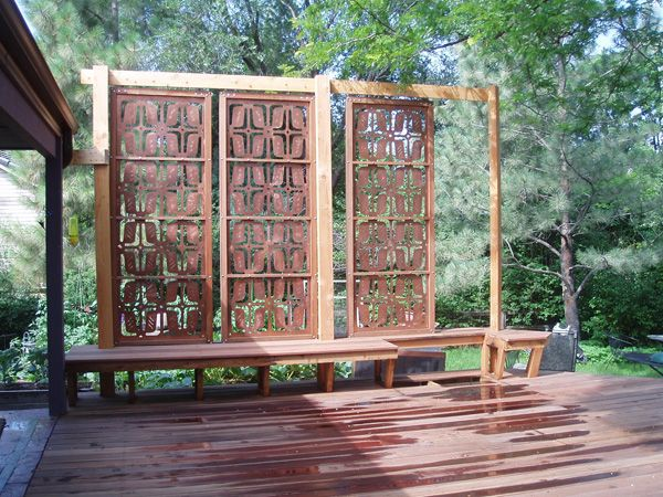 Privacy screen custom gallery parasoleil for Outdoor privacy panels for decks