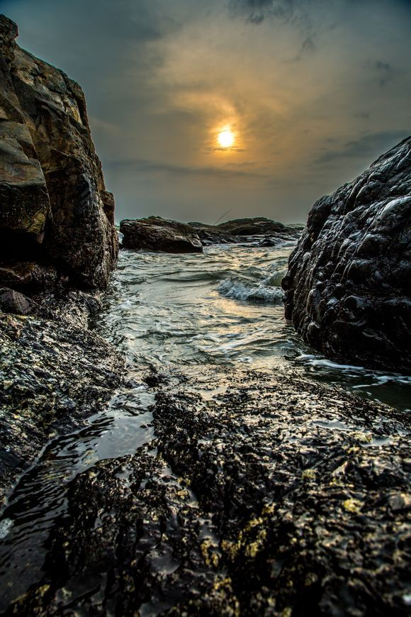 Sunset at Vagator beach
