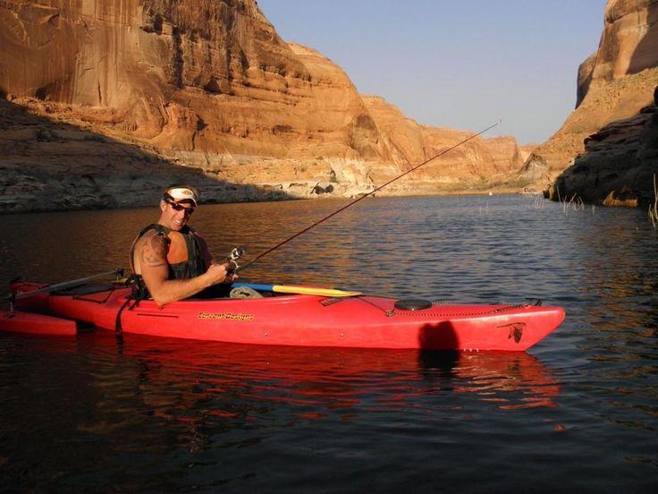 Kayak fishing on lake powell ut fishing pinterest for Lake powell fishing