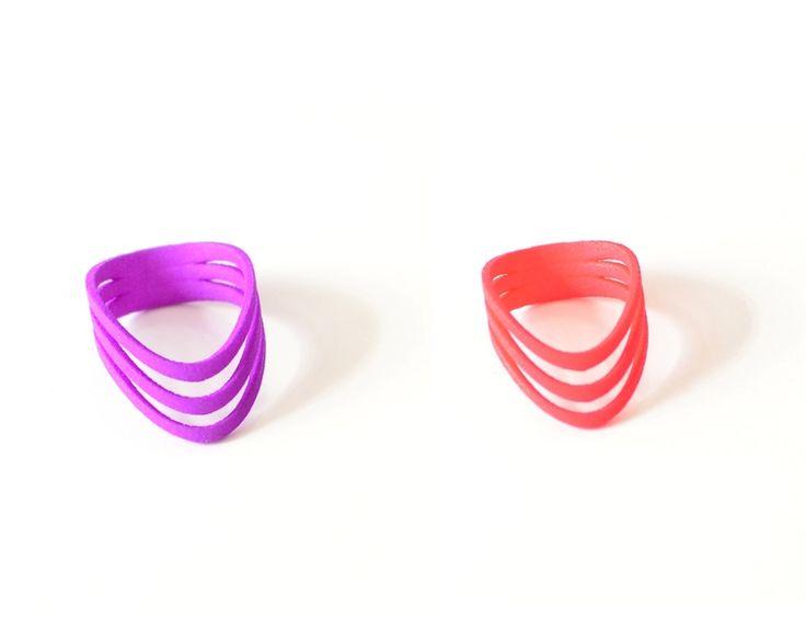 Anillos hechos en impresión 3D.