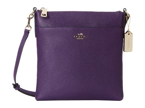 COACH Embossed Txt Leather North/South Swingpack