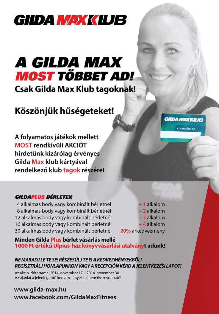 Gilda MAX Klub - Köszönjük hűségedet! Rendkívüli akció csak Gilda Max klub kártyával