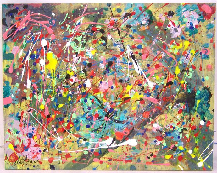 Paintings by Famous Artists: Jackson Pollock Art for Kids Like this.