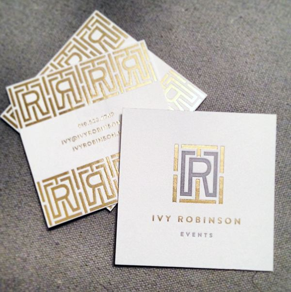 11 best foil business card printing images on pinterest business i think black would be a good combo ivy robinson business card design by emily mccarthy gold foil and letterpress reheart Image collections