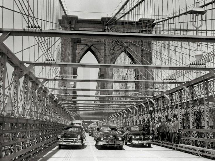 Brooklyn Bridge, c.1951 Art Print at Art.com