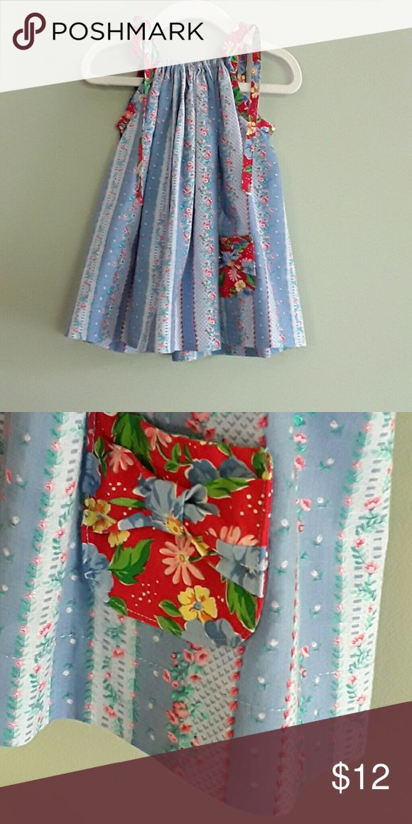 Little girls pillowcase dress size 2 Here's adorable little girls pillowcase dress perfect for those long summer days to keep your little ones  and stylish and cool or looks great with solid color long sleeve undershirt and leggings or tights for the winter months at first it can be worn as a dress or each year a little shorter until it is a little Thai  handmade boutique style new never worn Dresses