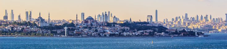 View of the European side of Istanbul from the southern entrance to the Bosphorus, by Ben Morlok