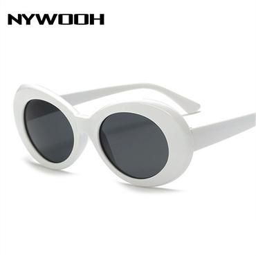 b621f17b81 NYWOOH Clout Goggles Kurt Cobain Glasses Men Women Retro Brand Designer  Oval Sunglasses Female Male NIRVANA