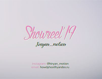 """Check out new work on my @Behance portfolio: """"Showreel'17"""" http://be.net/gallery/58979851/Showreel17"""