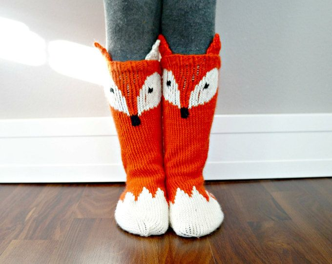 Keep those little toes warm but cute with these Little Foxy Socks! Cute pattern adds some wow factor to a must have fall accessory for all kids. With changing the colours you can turn the Little Foxy Socks into Little Raccoon socks :)  This pattern is part of the Woodland Fairy Tales collection and the pattern acts as a good basic sock pattern even without the fox face and tail.  This listing is for a PDF PATTERN for the Little Foxy Socks. No physical product will be sent!  These socks were…