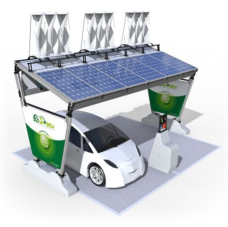 Wind and solar charging station.Why..?cause the TU Delft Netherlands already develop solar panels on the roof for cars.