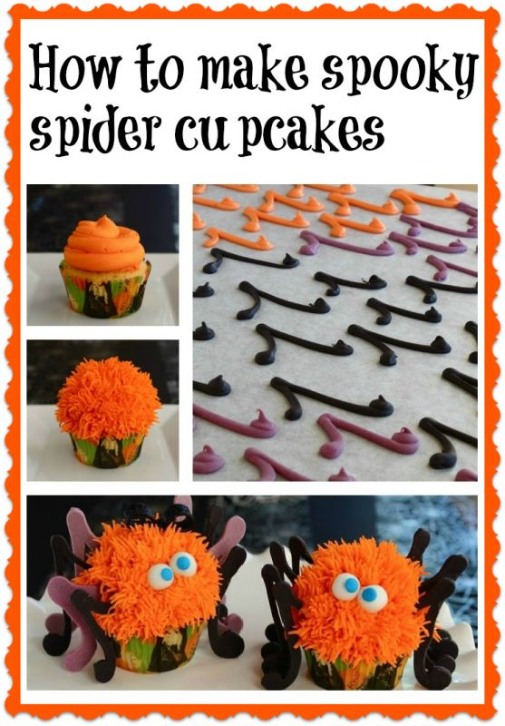 spooky spider cupcakes spider cupcakescupcake tutorialdecorated cupcakeshalloween - Halloween Decorated Cupcakes