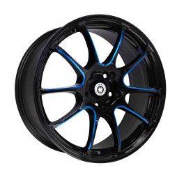 KONIG Wheels ILLUSION Rims 17x7 Gloss Black with Blue Spokes Finish