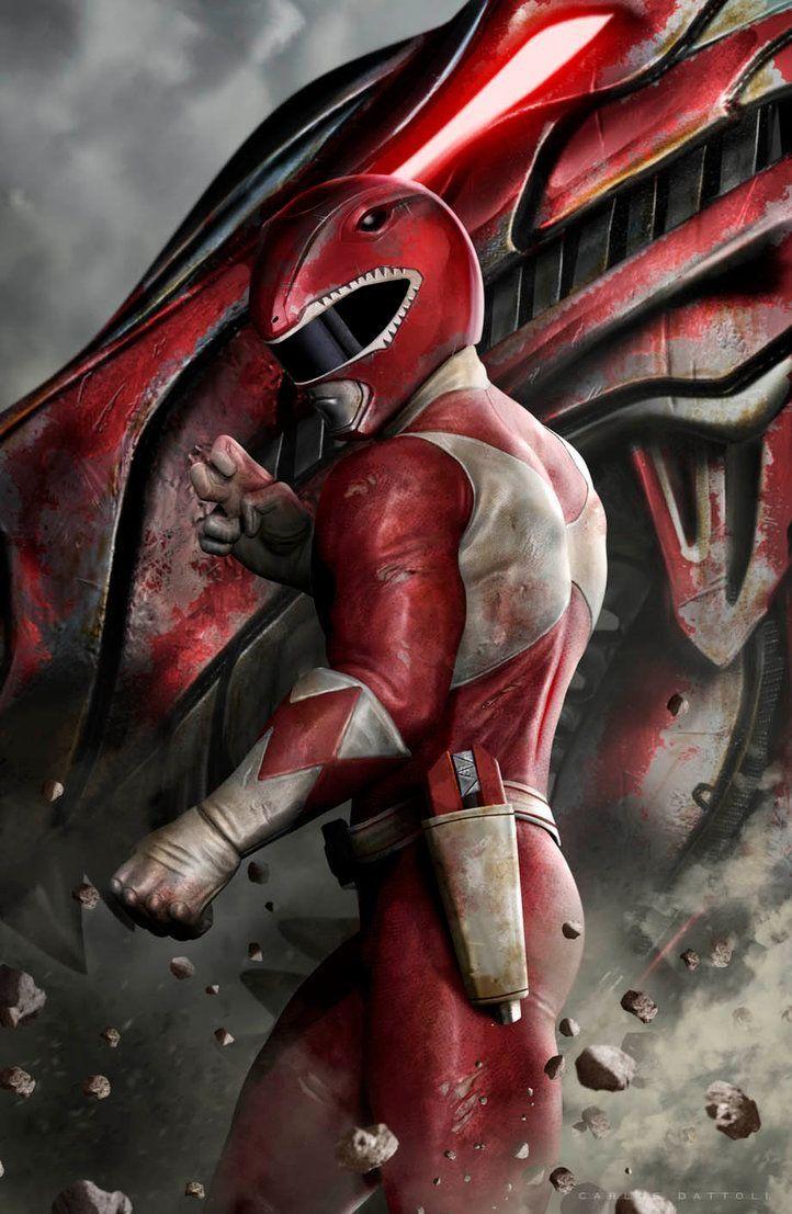 Jason/Red Ranger/Tyrannosaurs by Carlos Dattoli