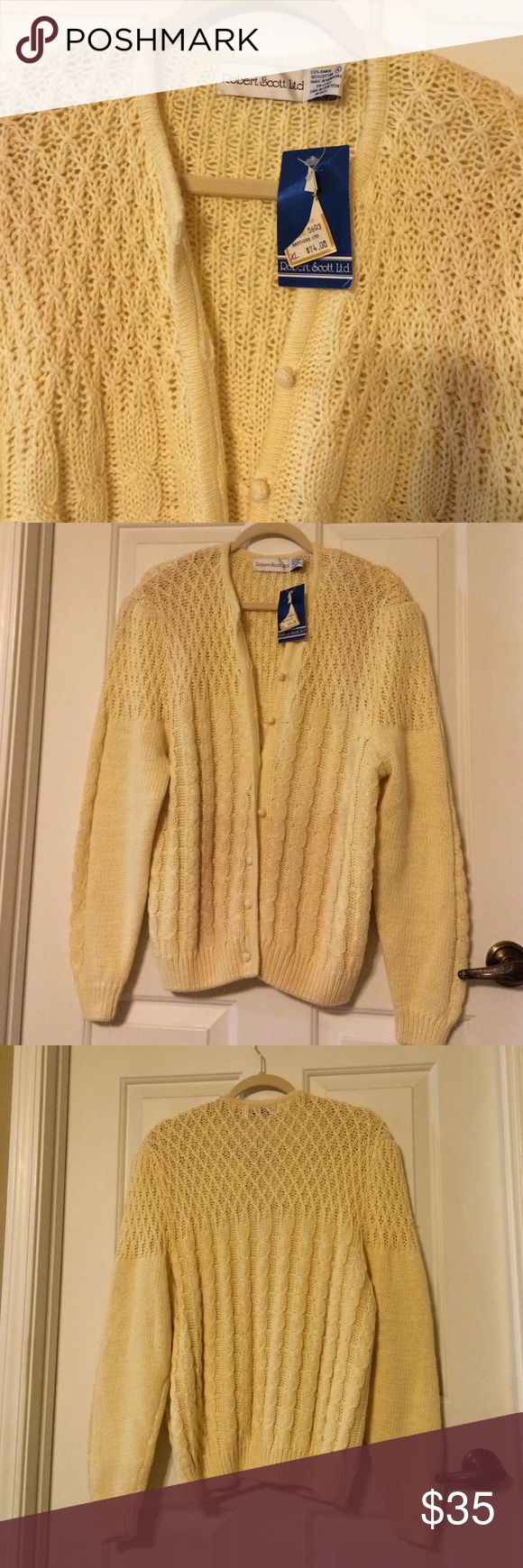 Robert Scott Cardigan Sweater / NEW Great Christmas Gift for MOM :) very pretty and easy to button and unbutton :) Robert Scott LTD Sweaters Cardigans
