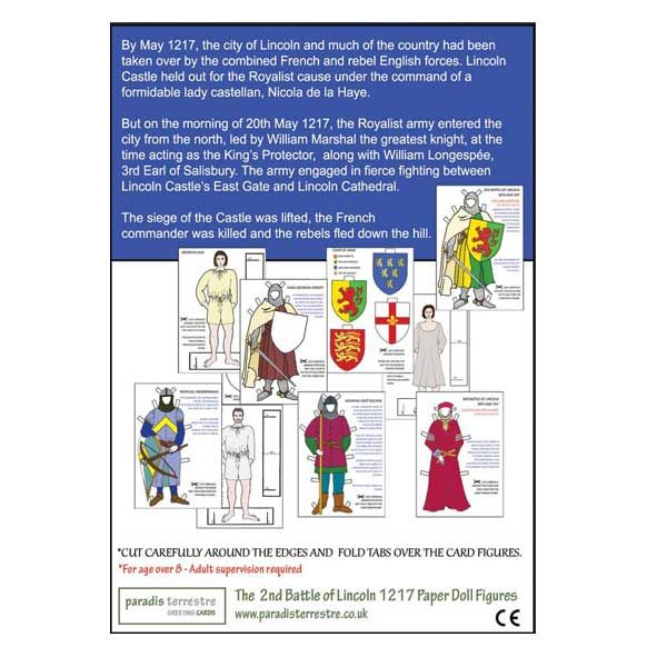 Battle of Lincoln Dressing Up Dolls Pack, Cut out and colour your own shields