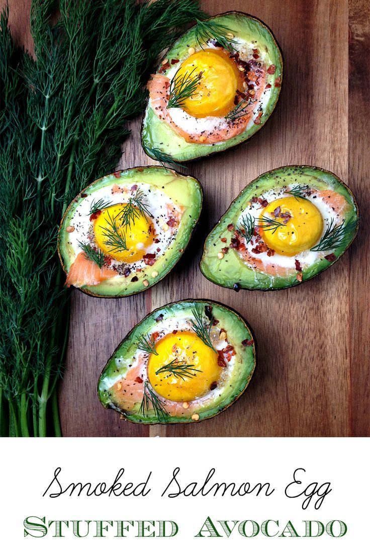Smoked Salmon Egg Stuffed Avocado // fancy schmancy without the fuss, high protein, low carb via Grok Grub #brunch #healthy