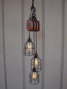 Industrial Pulley Lamp - Pendant Lighting, Vintage lamp - iD Lights | iD Lights