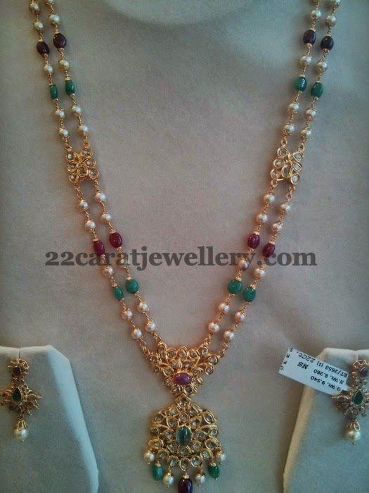Jewellery Designs: Pachi Set with Uncut Locket