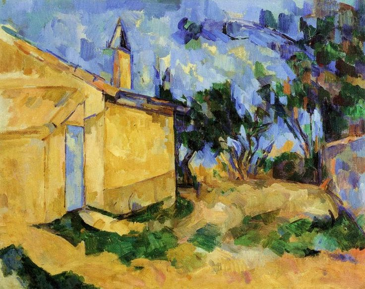 Paul Cezanne, The Cottage of M. Jourdan, 1906