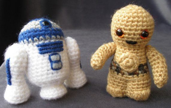 Free Crochet Patterns Amigurumi Star Wars : R2D2 and C3PO crochet patterns CRAFT // Hookin ...