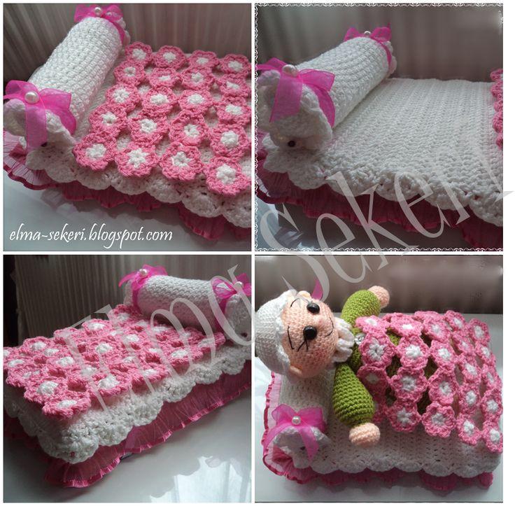 Elma Şekeri El Sanatları Atölyesi: Örgü Bebek Yatağı Yapılışı