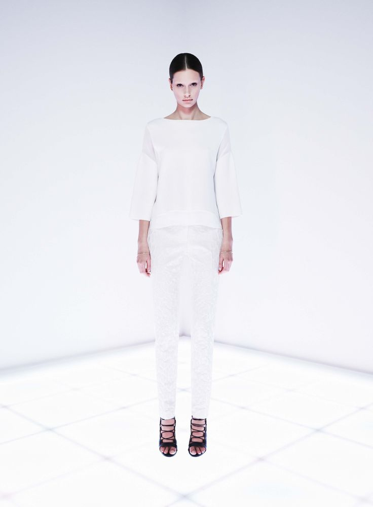 Binary Knit Top and Namespace Trouser by CAMILLA AND MARC  http://www.camillaandmarc.com/binary-knit-top-white.html