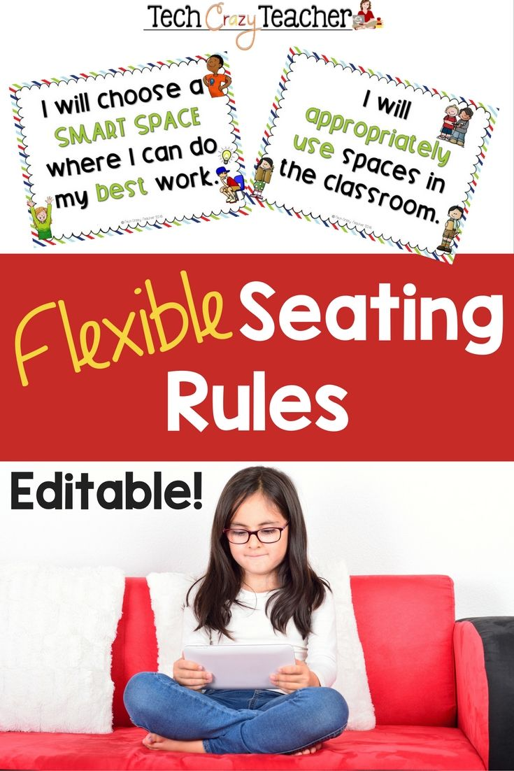 Flexible seating can help bring your classroom into the 21st century. But there still has to be classroom rules, right?! This resource contains 6 basic flexible seating rules to help integrate 21st century seating in your classroom. AND if I don't have the rule you want, just use the editable pages to add your custom rule!