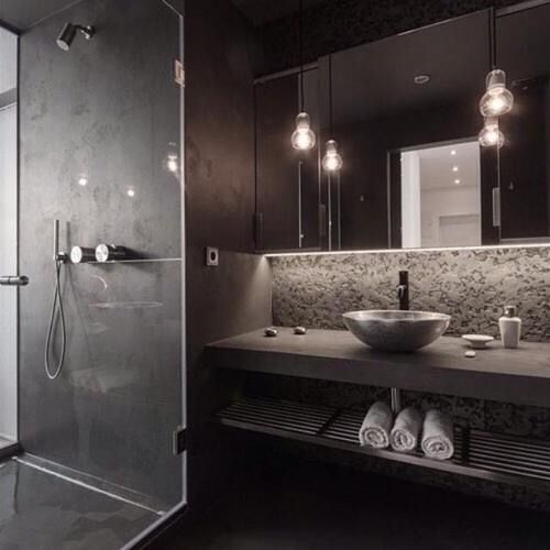 Image via We Heart It #bath #bathroom #black #home #luxury
