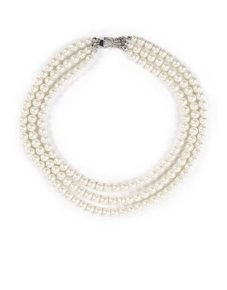 Triple Strand Pearl Necklace, this will look amazing on her.